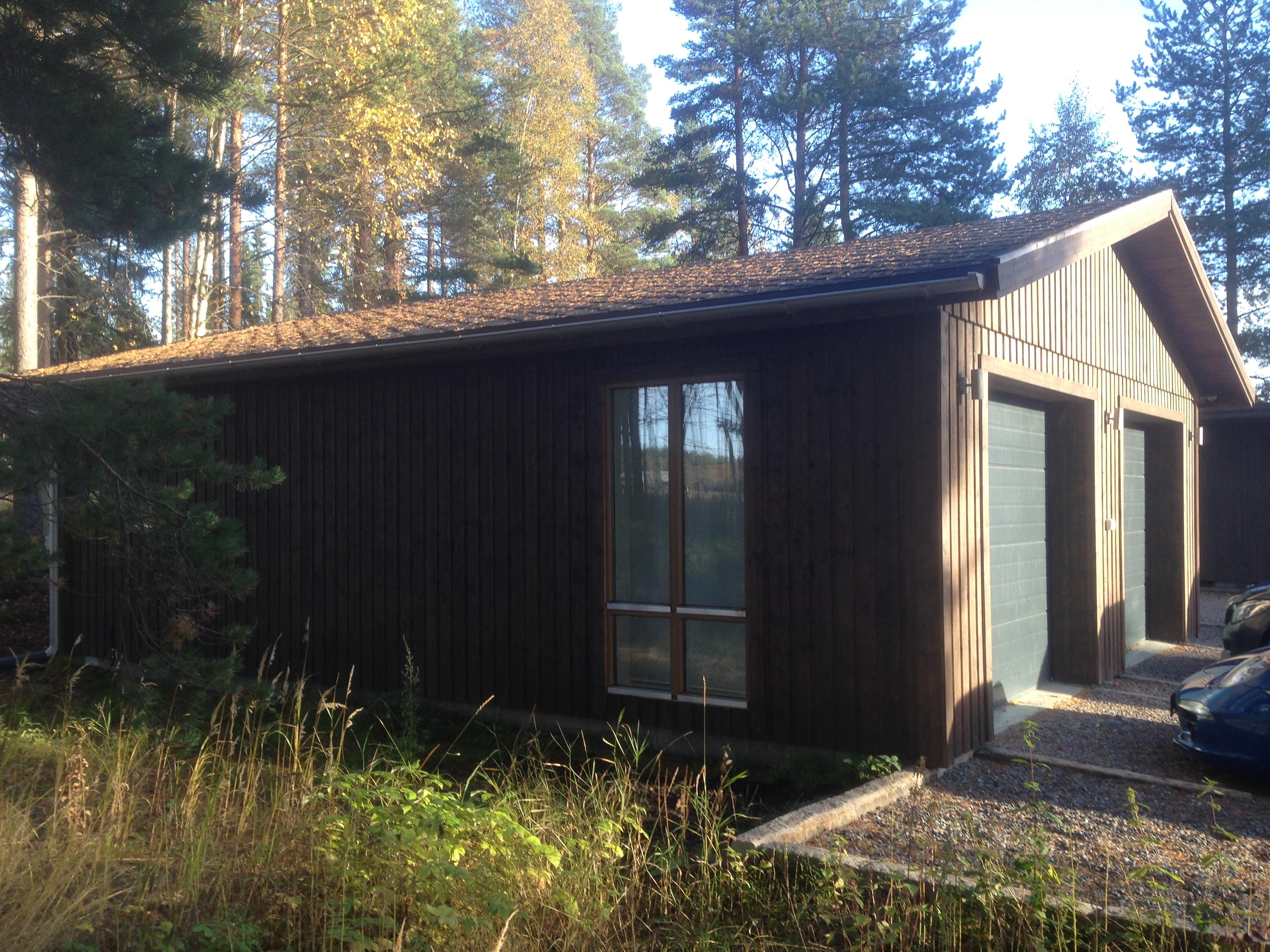 Nybyggt isolerad garage ca 80 kvm.